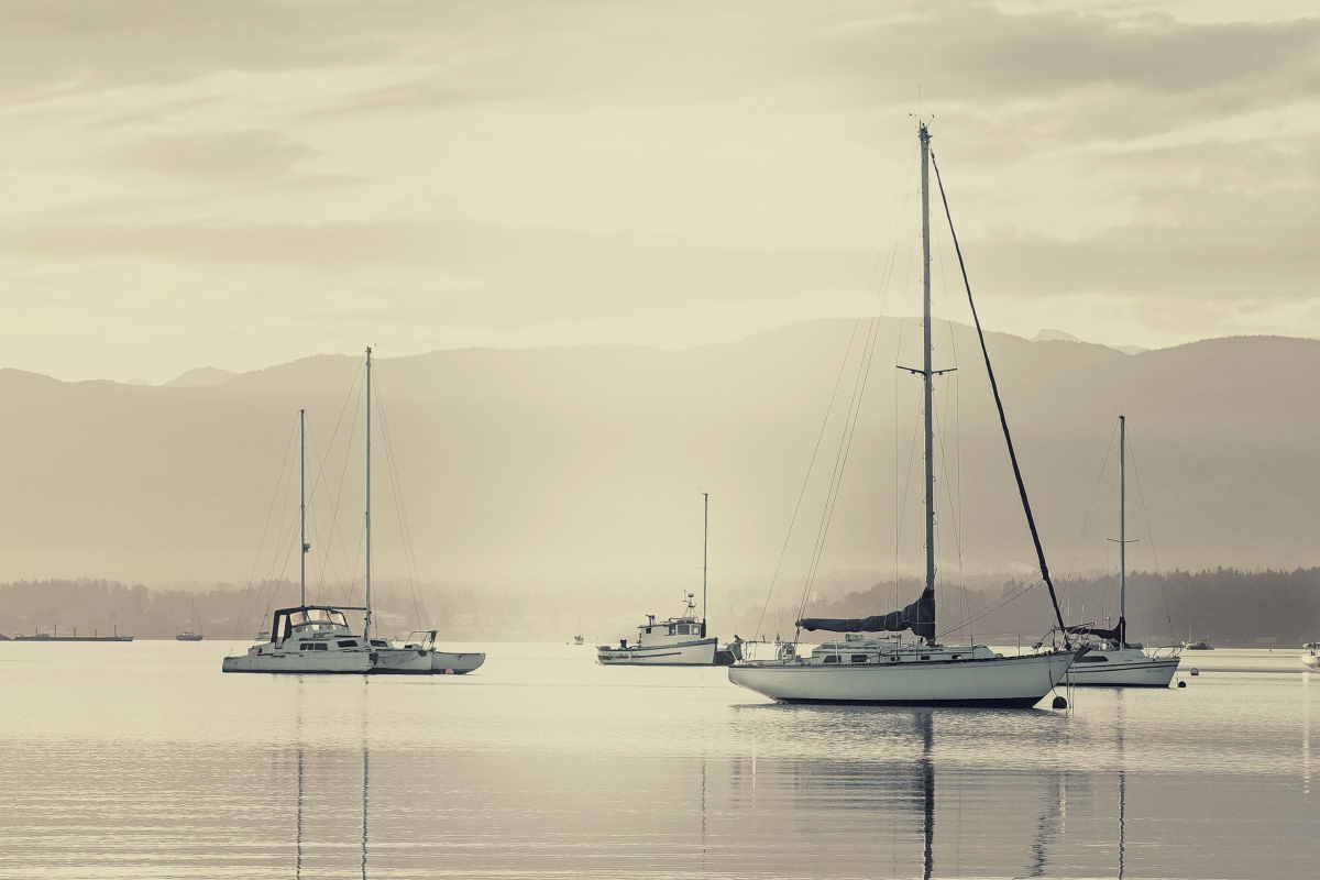 Varios veleros baratos navegando